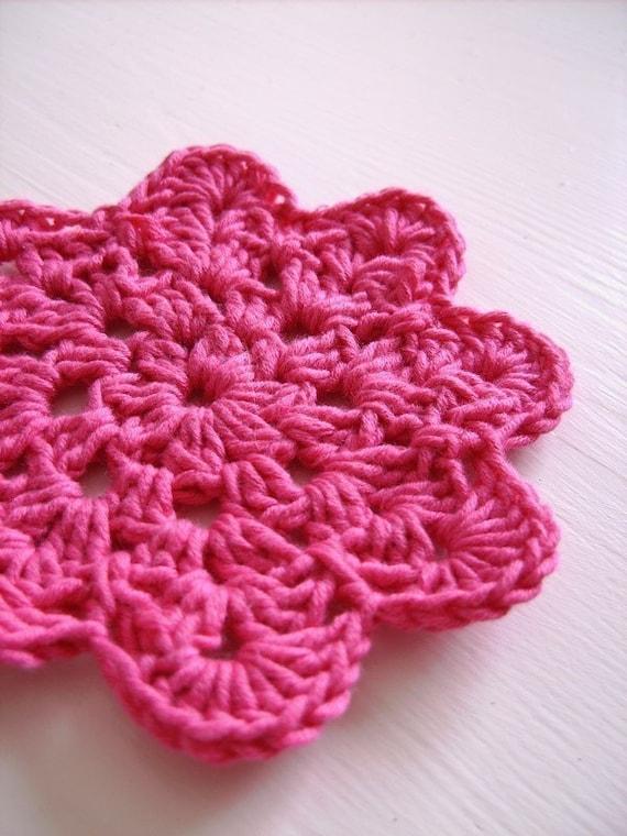 Instant download - flower coaster crochet pattern