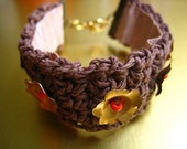 Crochet hemp bracelet