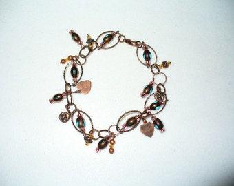 Copper Charmed Bracelet