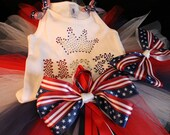 USA Princess BLING Tutu Set---Perfect for 4th of July Parades and Pageants