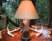 SOLD LOCALLY / ENT Series Rustic Table Lamp with Shade Options / IN BLOOM / SOLD LOCALLY
