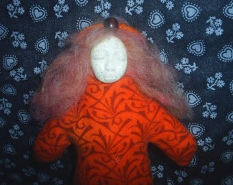 Collectable Doll / Fire Dancer Folina Doll / Art Doll / Woodland Fairy - ooak art doll