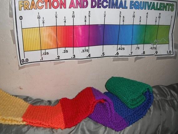 Rainbow Scarf / Hand Knit Scarf / Winter Accessories / Unisex Scarf / Long scarf