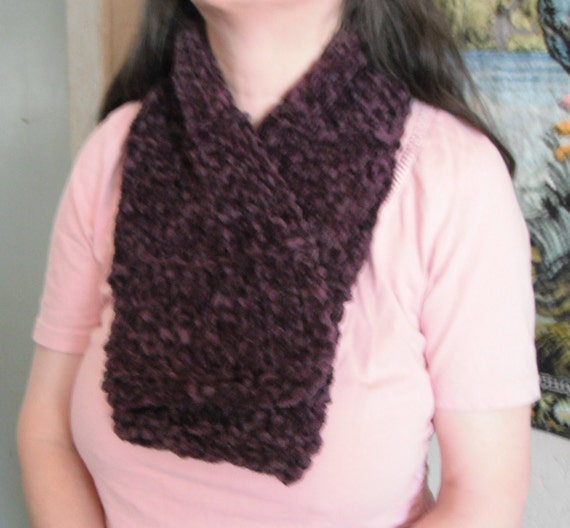 SALE / Chenille Hand Knit Scarf / chenille by ...