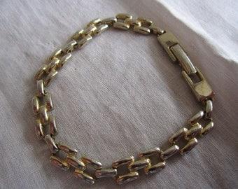 Vintage Gold and Silver Tone Link Bracelet