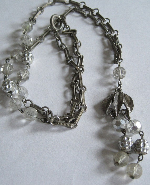 Vintage Silver-Colored Necklace