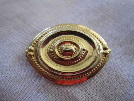 Vintage Gold Tone Scarf Clip