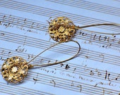 Earring Lilly Filigree Gold Long