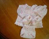 Hand Knit Baby Ensemble