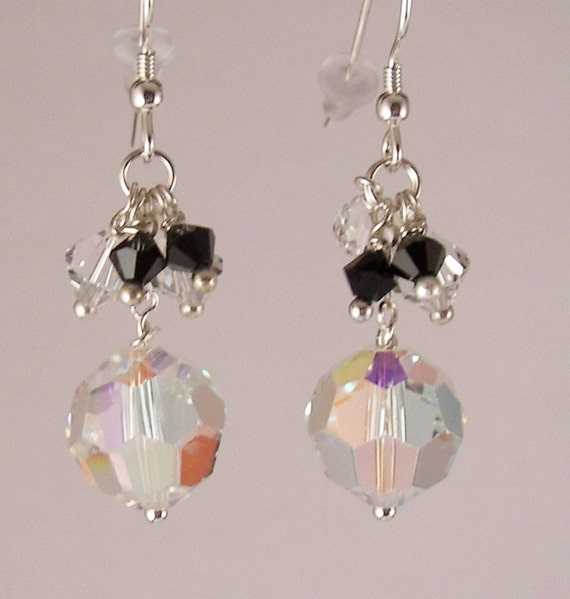 Crystal Ball Earrings, Crystal Dangle Earrings, Swarovski Crystal Beads, Clearance Sale, Ready To Ship