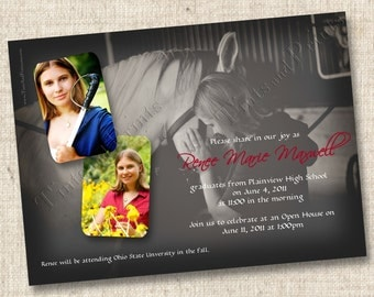 Photo Montage Graduation Custom Announcement or Invitation