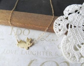 HOPPING down the bunny trail rabbit necklace (gold) - LAST ONE