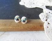 PAINT petite watercolor butterfly post earrings (gold backs) nickle-free