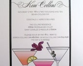 Cocktail Birthday Party Invitation