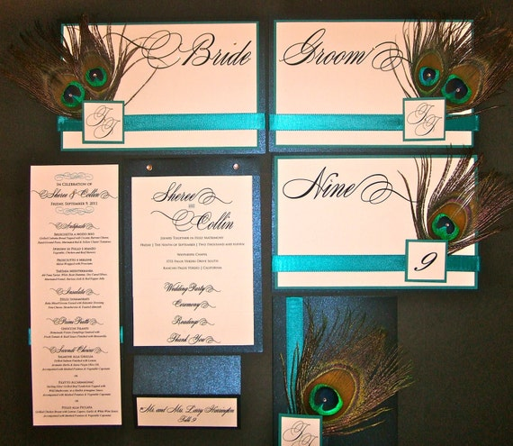 Sample Package: Wedding Invite, Table Numbers, and Bride Groom Signs