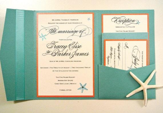 Starfish Wedding Invitation Kit: Starfish Wedding Invitation