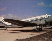 Vintage Postcard Douglas DC-3 - Lynbird International Airways