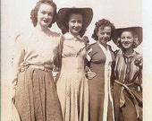 Vintage Photo - Pretty Show Girls - The Brucettes - Street Clothes