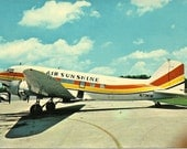 Vintage Postcard - Air Sunshine N73KW
