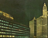 Vintage Postcard - Chicago Sun Times Building