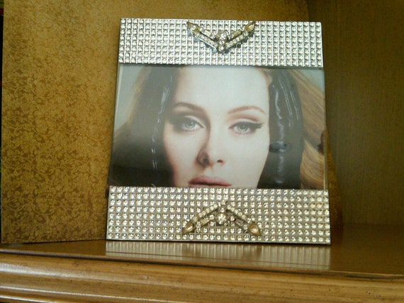 Gorgeous vintage jeweled picture frame
