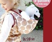 Warm Hoodie Vest PDF Pattern