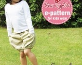 Summer Breeze Bubble Shorts - (12 months upto age 6) PDF patterns
