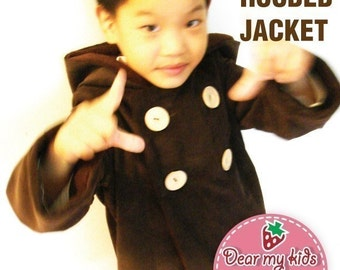 Unisex warm hoodie jacket patterns ((12 months upto age 6))