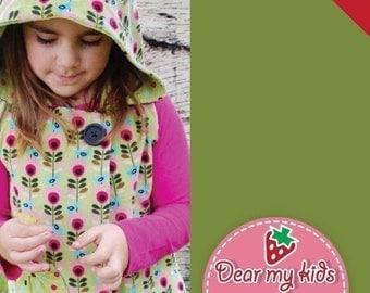 Warm Hoodie Vest Junior Size PDF Patterns ((Age 7 to 12))