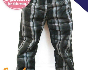 2 IN 1 Reversible Pants- One side pocket, elastic band waist (12M - 6T) PDF patterns