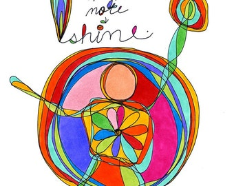 high note. colorful print. by rachel awes.