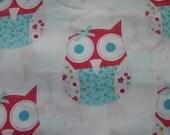 What a Hoot - Owl Applique Fabric Fat Quarter