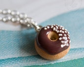 Sprinkled Donut Pendant Necklace w/ Chain