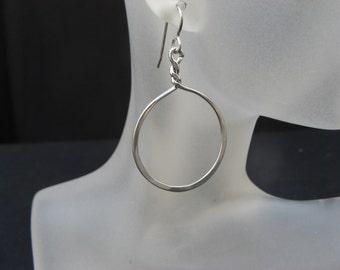 Sterling Silver Circle / Hoop  Earrings