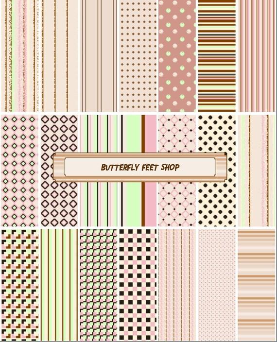 Digital Textured Paper, Neutral Colors - Beige, Brown - Printable PDF - Instant Download