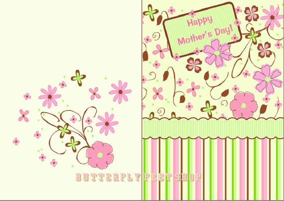 printable mother's day card and birthday card for her, Birthday card