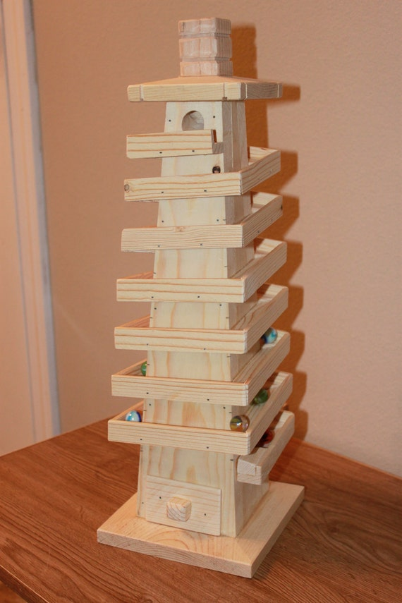Wooden Marble Run Tower