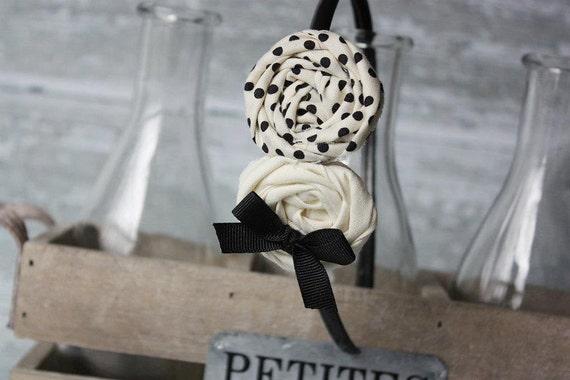 Oh, Oh, Domino-  double rosette headband