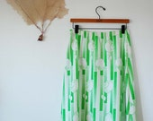 Funky Lime Green Nautilus Skirt (S/M)