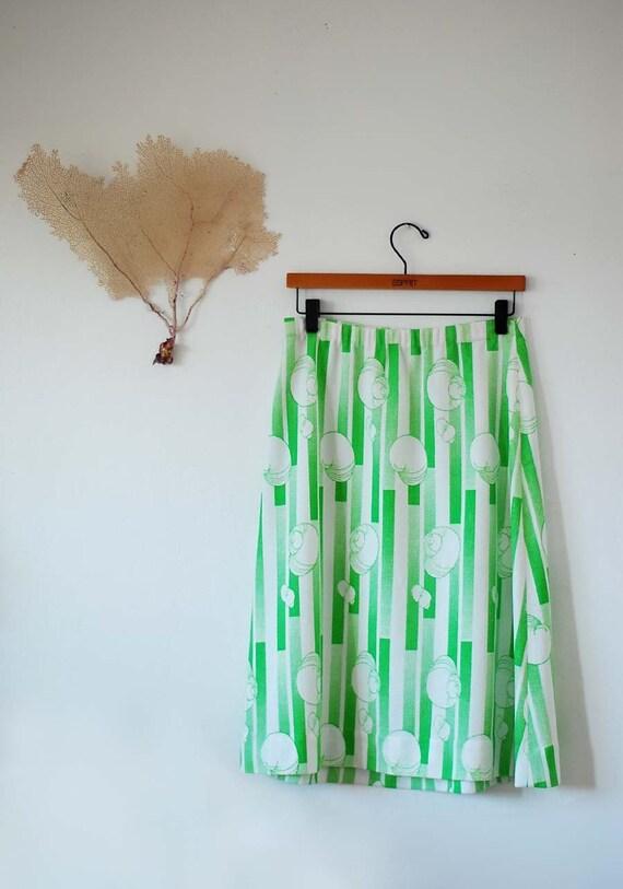 Funky Lime Green Nautilus Skirt (S/M)