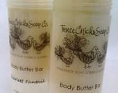 Scarlett Fantail - Cocoa Butter Mango Butter Avocado Body Butter Bar