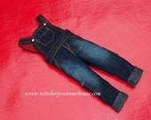 Clearence Dis 20% Denim blue in Overalls knickers for blythe,pullip,pure neemo xs and more