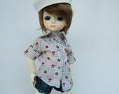 Sheriff Tartan Shirt Season2 Blue tartan with tiny rose version for YO-SD Boy & Girl