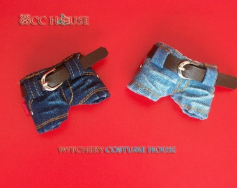 Hipter Denim mini pants to refined handmade for Neo Blythe,Pullip ,Obitsu,Pure NeemoXS/S/M/L
