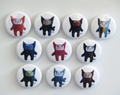 Plush Kitty Collection 1-Inch Pins - Series 1