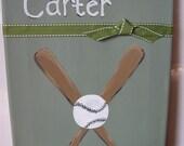 Baseball Name Canvas