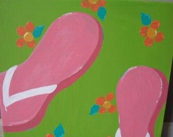 Beach Series,Pink  Flip Flops