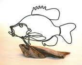 Sunfish Wire Sculpture - Reserved for Falkner Design Inc