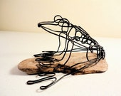 Reserved for Kathy:  Frog Wire Sculpture