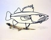 Walleye Fish Wire Sculpture